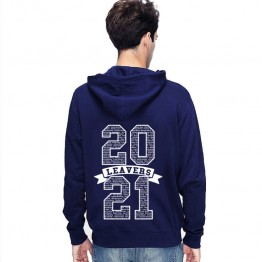 Leavers Hoodie Classic 21 Name List Inside Design Stars & Stripes Hoodie