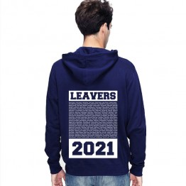 New Leavers Hoodie style in Retro Square design