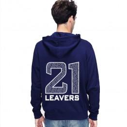 Leavers Hoodie Classic Names 2021 Design Stars & Stripes Hoodie