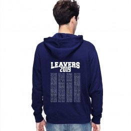 Leavers Hoodie 2019 TEXT BLOCK design Stars & Stripes Hoodie