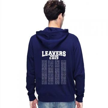 Leavers Hoodie 2019 TEXT BLOCK design Stars & Stripes Hoodie