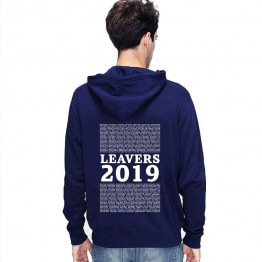 New Leavers Hoodie style with block of names printed in a list