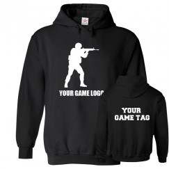 A Personalised GAMER Logo On Front & Gamer Tag On Back Hoodie