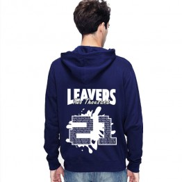 New Leavers Hoodie Spatter Square Design Hoodie with names inside