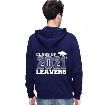 Leavers Hoodie Class 21 List Hat Design Stars & Stripes Hoodie