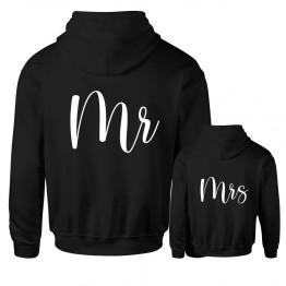 Custom Back Mr & Mrs Printed on Hoodie (2 Hoodies)