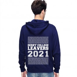 New Leavers Hoodie block column names with middle 2021 text