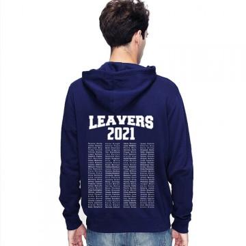 Leavers Hoodie 2021 TEXT BLOCK design Stars & Stripes Hoodie