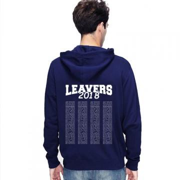 Leavers Hoodie 2018 TEXT BLOCK design Stars & Stripes Hoodie