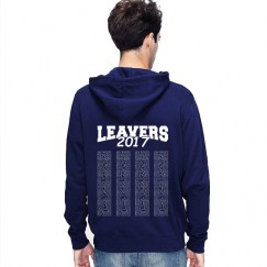 Leavers Hoodie 2017 TEXT BLOCK design Stars & Stripes Hoodie