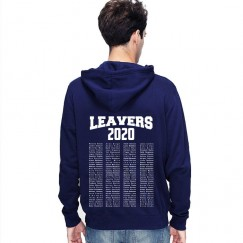Leavers Hoodie 2020 TEXT BLOCK design Stars & Stripes Hoodie