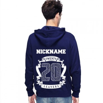 New Leavers Hoodie Circular scroll design with names inside 20