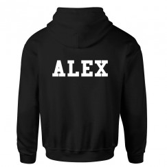 Personalised Back Name College Style Soccer Custom Name Or Team Name Hoodie