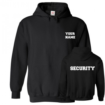 Personalised Front Custom Text Back SECURITY Hoodie