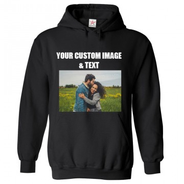 Personalised Front Custom Text and Image Hoodie