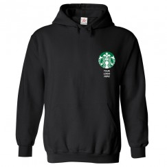 Personalised Your Custom Company Logo on Front Left Chest Hoodie