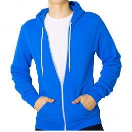 Stars And Stripes Contrast Zip Up Hoodie