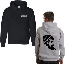 Personalised Sikh Uni Guru Society Hoodie with custom back/front text