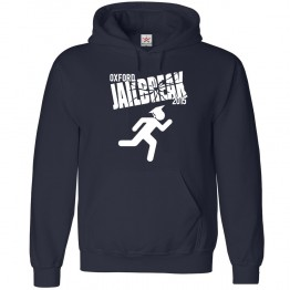 Personalised Running Jailbreak Hoodie with Custom text on front design