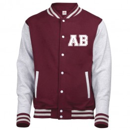 Personalised custom front text Varsity Jacket