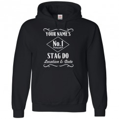 Personalised front chest stag text printed on Hoodie