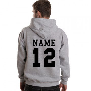 Personalised custom back name & number printed on Hoodie