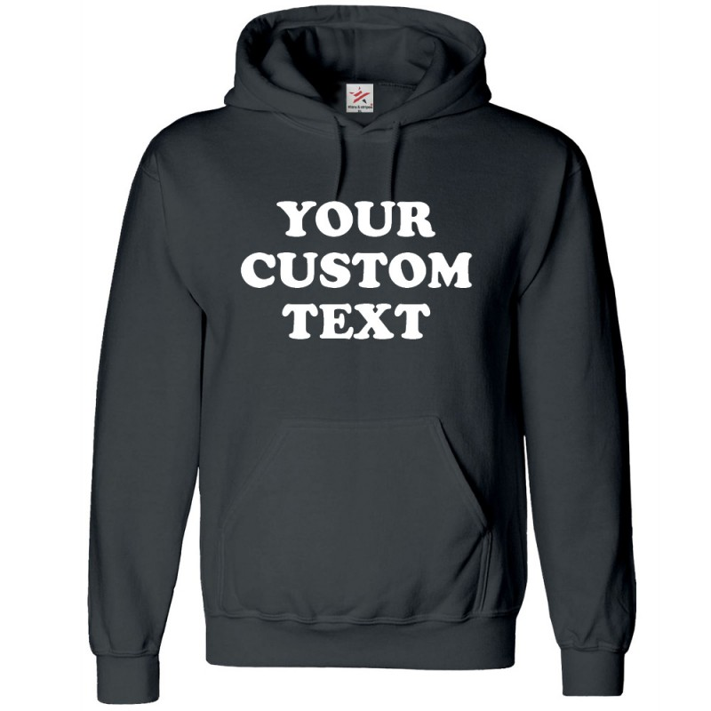 Personalised front chest text printed on Hoodie 1e5a87de8