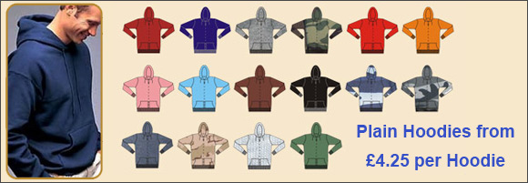 Wholesale Blank Hoodies £4.25 at low cost prices